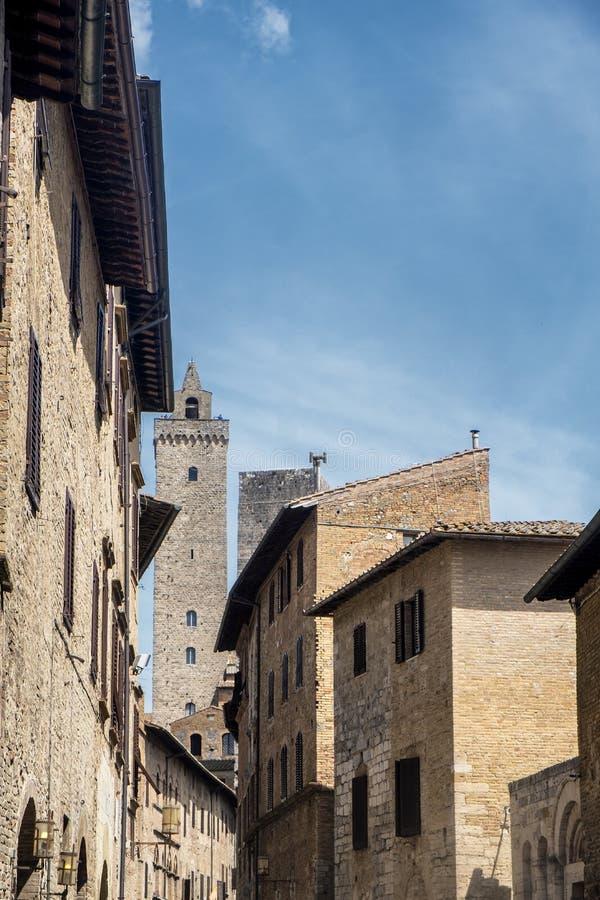 San Gimignano, Siena, na manhã imagem de stock royalty free