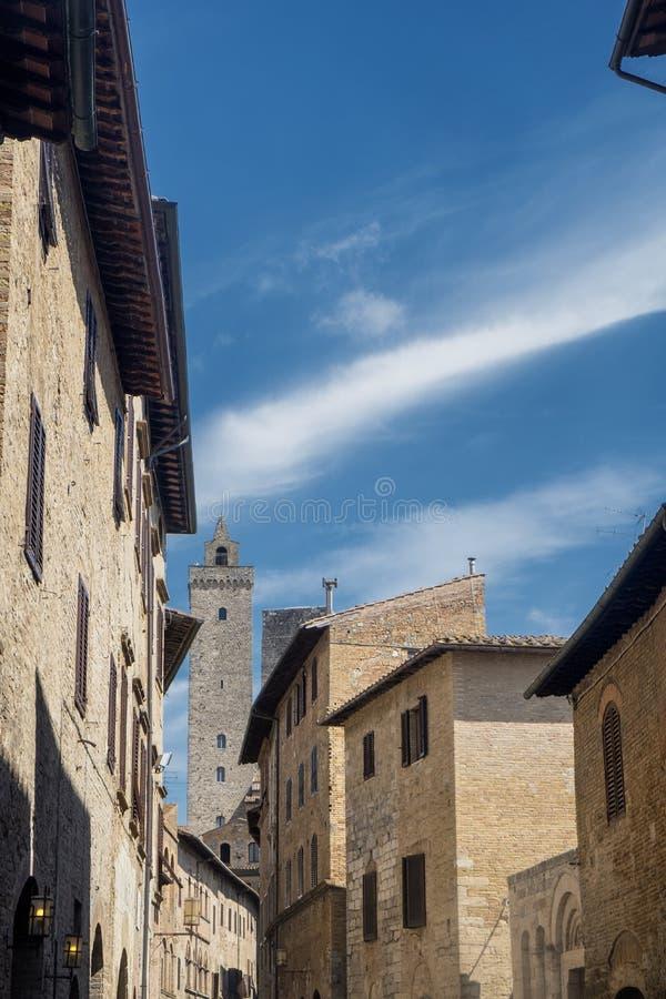 San Gimignano, Siena, na manhã imagem de stock