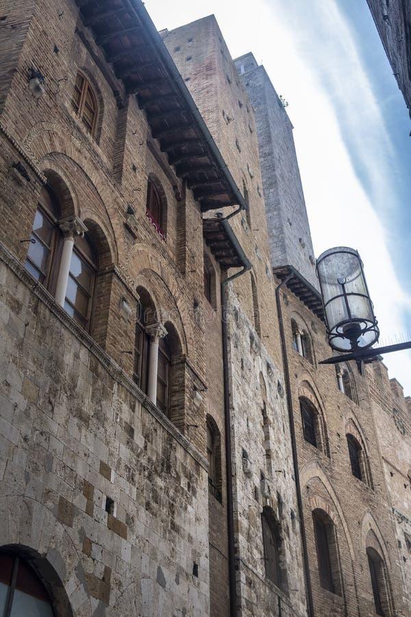 San Gimignano, Siena, na manhã fotos de stock royalty free