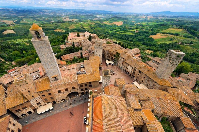 San Gimignano, Siena - Tuscany Włochy obrazy stock