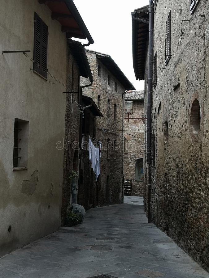 San Gimignano Street stock photography