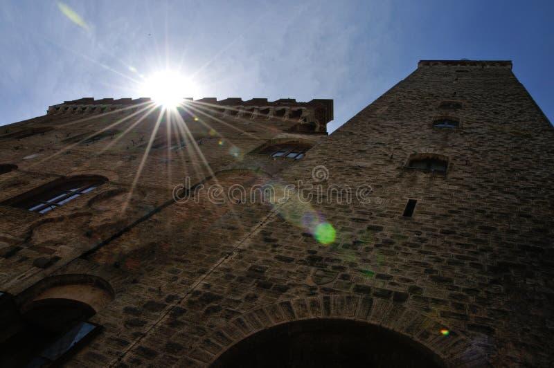 San Gimignano torre grossa fotografia stock