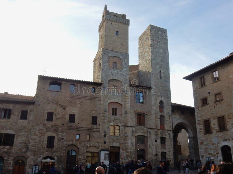 San Gimignano, Torri degli Ardinghelli - zdjęcia stock