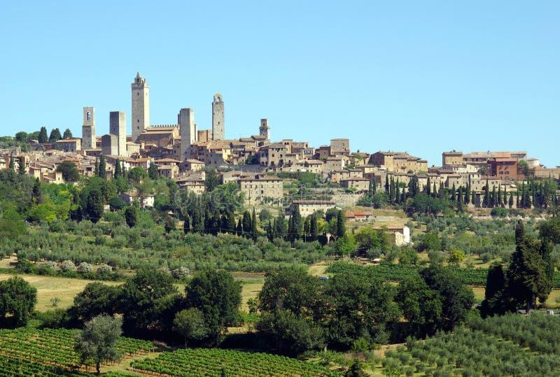 San Gimignano, Toscânia, Italy fotos de stock royalty free
