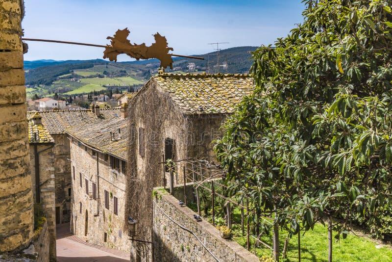 San Gimignano in Toscana, Italia immagini stock