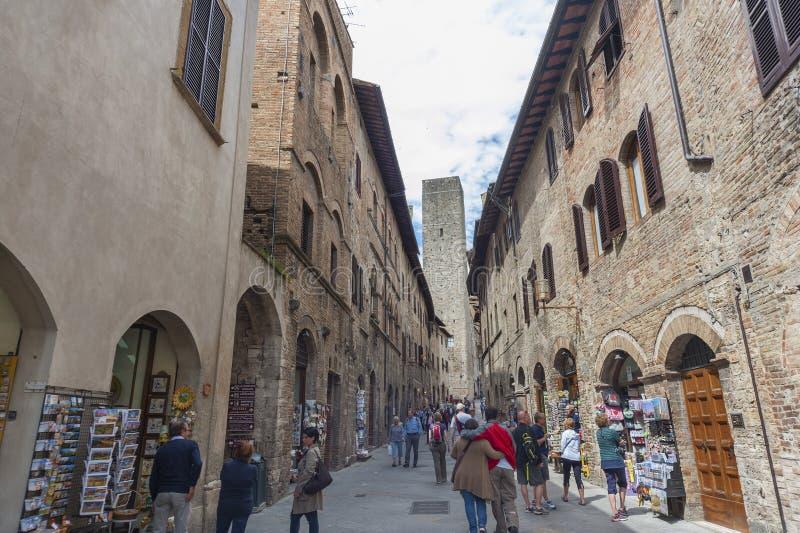 San Gimignano, Toscana, Italia foto de archivo libre de regalías