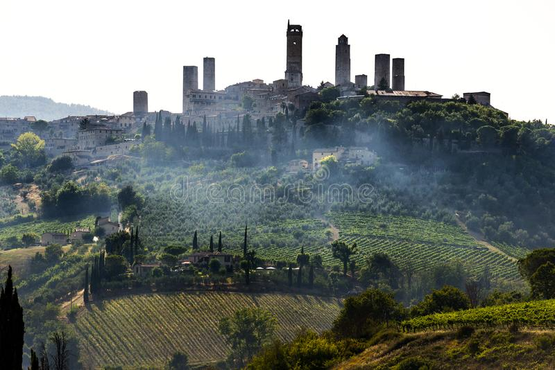 San Gimignano, Toscane photo stock