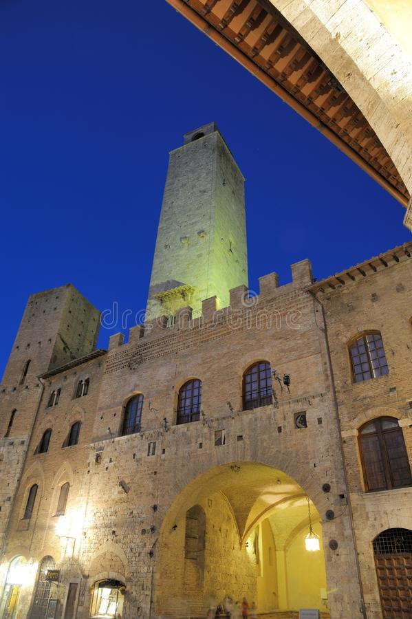 San Gimignano (Toscanië) stock foto's