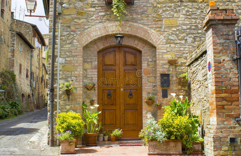 San Gimignano - Toscanië, Italië stock fotografie
