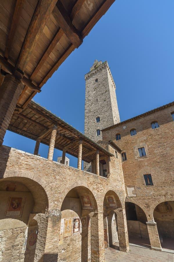 San Gimignano, Toskana, Italien stockfotos