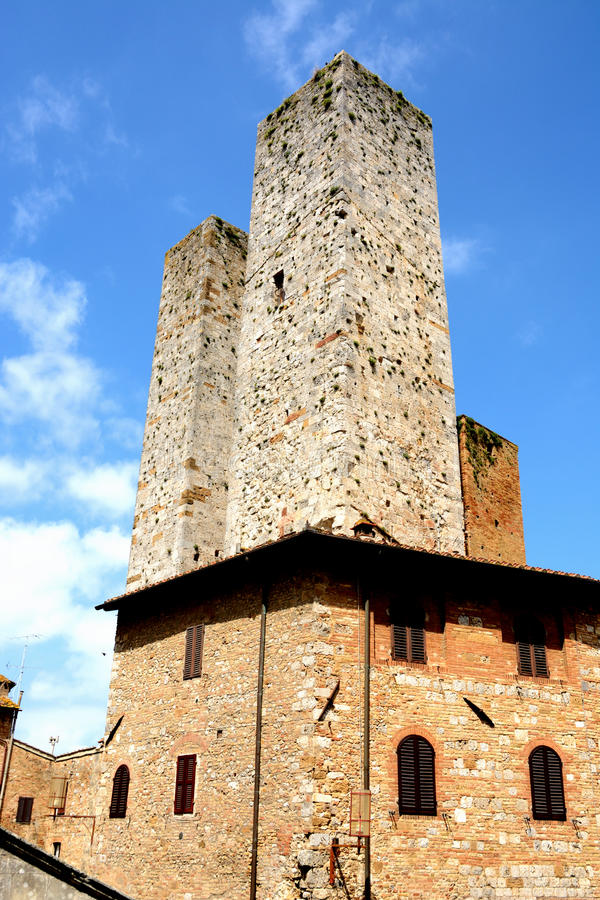 San Gimignano towers. taly stock image
