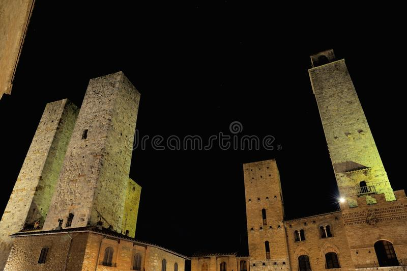 San Gimignano (Tuscany) stock images