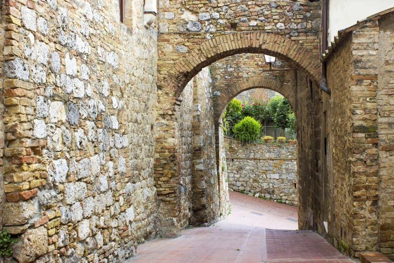 San Gimignano, Tuscany -, Włochy obrazy royalty free