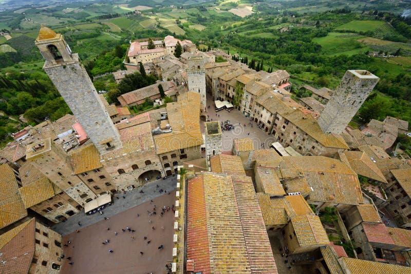San Gimignano, UNESCO, Tuscany, Italia stock photography