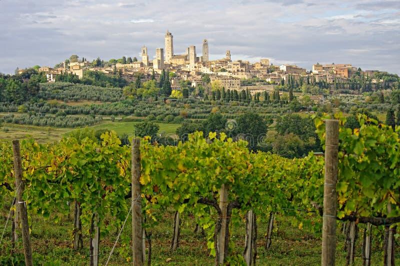 San gimignano Włochy Toskanii zdjęcia stock