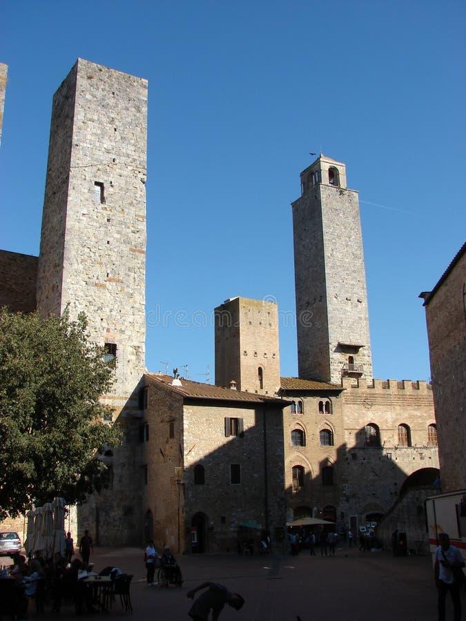 SAN Giminiano | σπίτια πύργων στοκ εικόνες