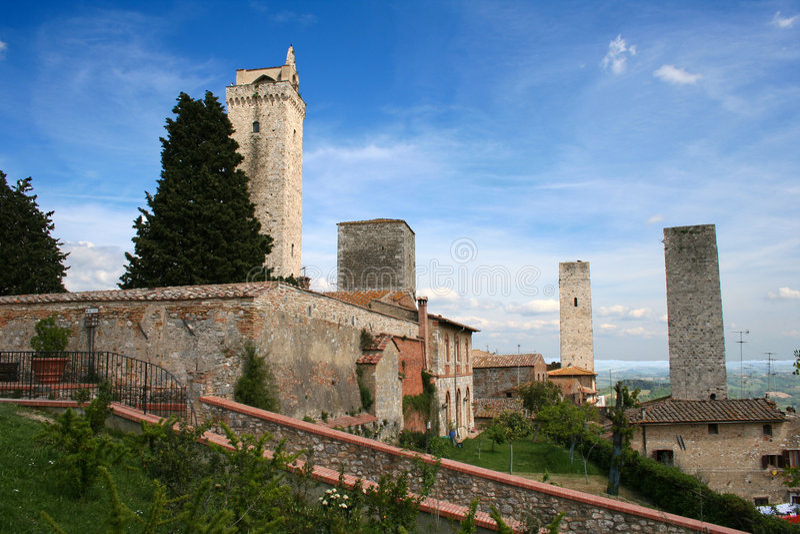 San Giminiano in Italië/Toscanië stock afbeeldingen