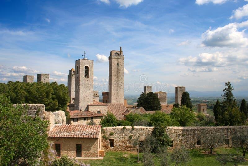 San Giminiano in Italia/Toscana fotografie stock