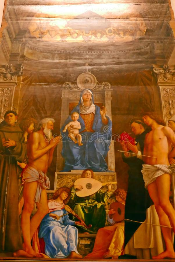San Giobbe Altarpiece - Giovanni Bellini fotografía de archivo