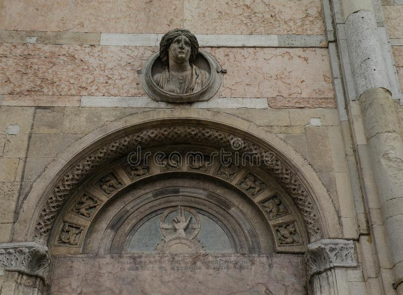 San Giorgio Cathedral, Ferrara, Emilia Romagna - Italy. Details Cathedral of St. George in Ferrara, Italy stock photos