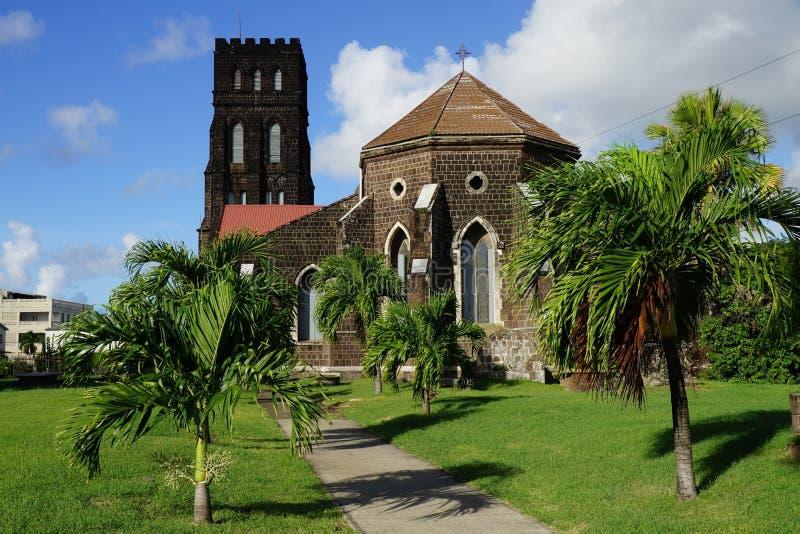 San Giorgio con il san Barnabas Anglican Church, isola della st San Cristobal fotografia stock