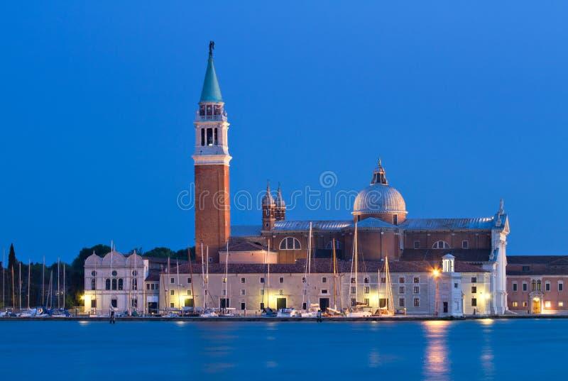 San Giorgio Maggiore at the blue hour stock photography