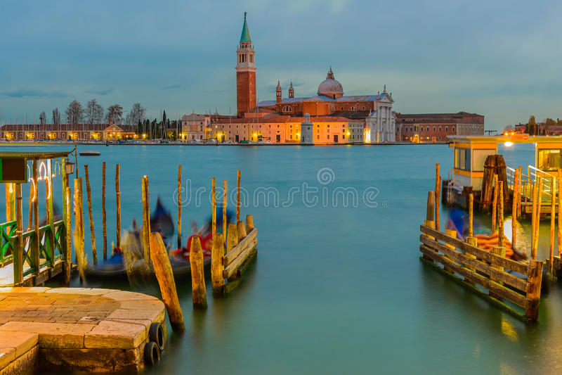 San Giorgio Maggiore Church au crépuscule, Venise, Italie photo stock