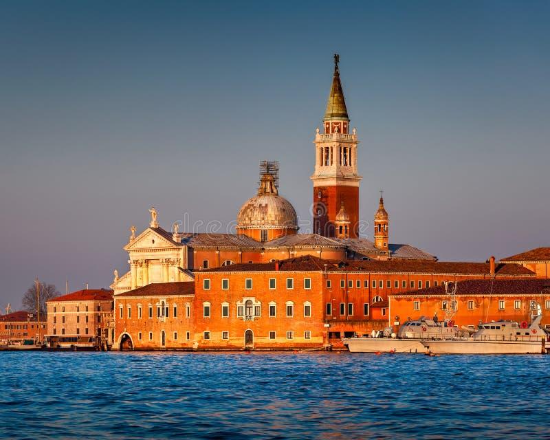 San Giorgio Maggiore Church faisant face à Grand Canal à Venise images stock