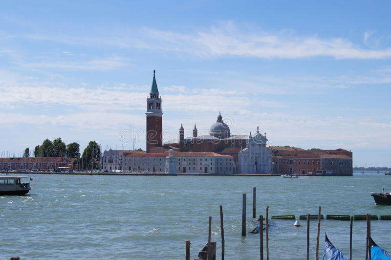 San Giorgio Maggiore en el horizonte fotos de archivo