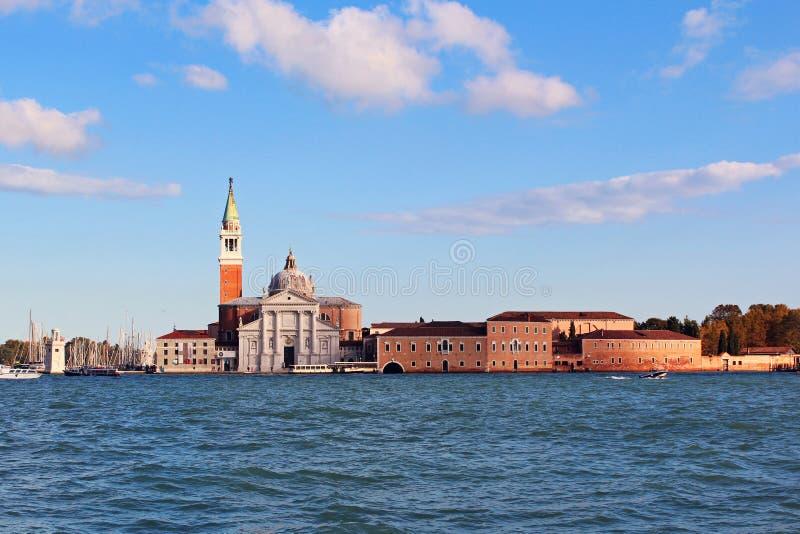 San Giorgio Maggiore Island in Veneza royalty free stock photos