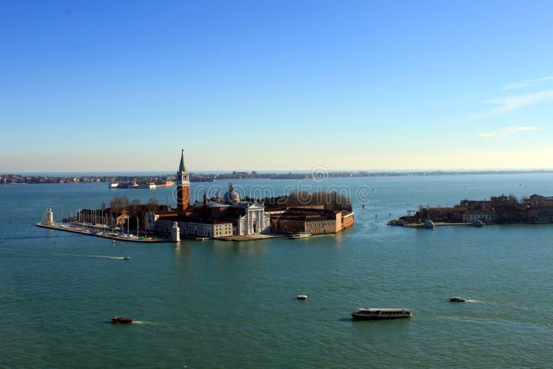 San Giorgio Maggiore Island Venice Italy royaltyfria foton