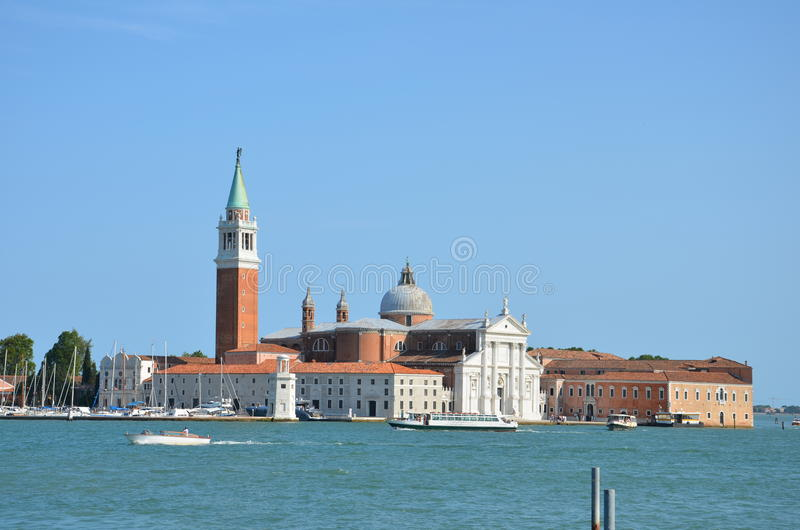 San Giorgio Maggiore - Venice - Italy. San Giorgio Maggiore is one of the islands of Venice, northern Italy. San Giorgio is now best known for the Church of San royalty free stock image