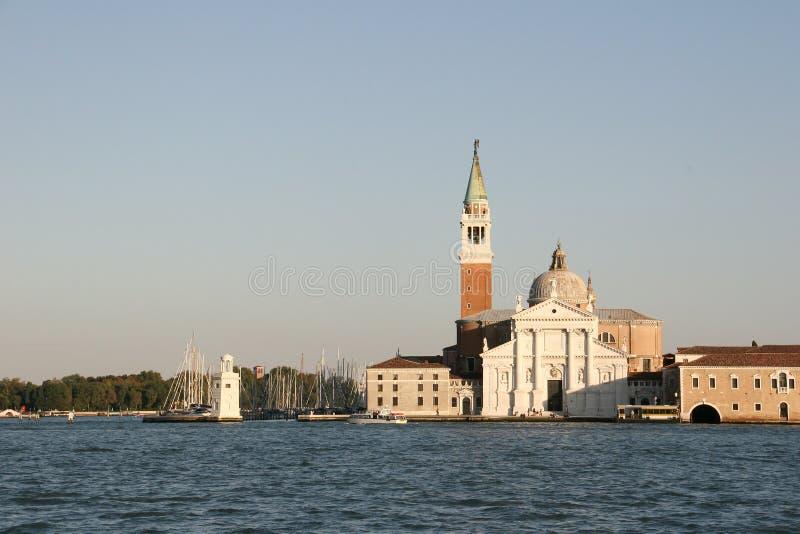 San Giorgio Maggiore in Venetië stock foto's