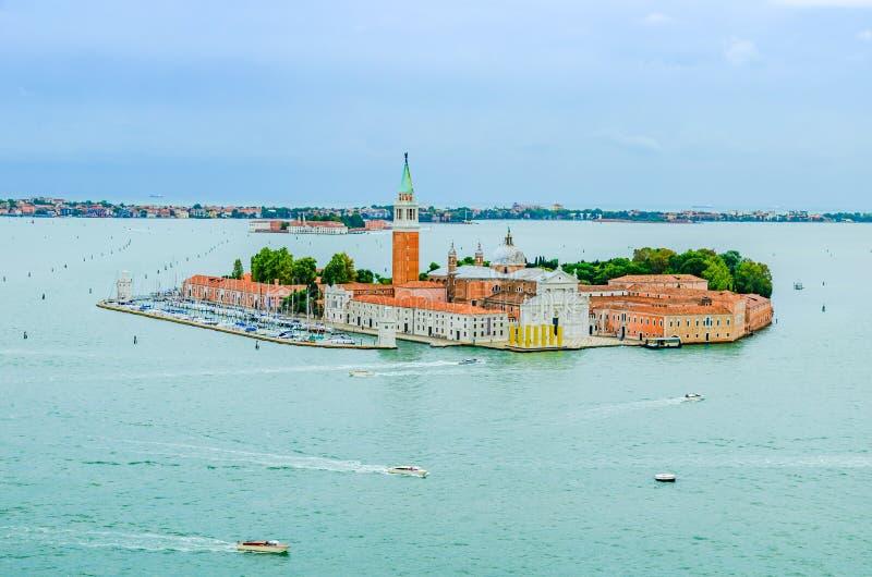 San Giorgio Maggiore wyspa w Wenecja Włochy zdjęcie stock