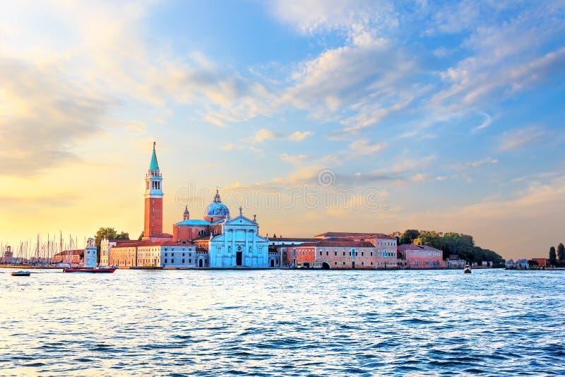 San Giorgio Maggiore wyspy widok, Wenecja, Włochy obraz royalty free