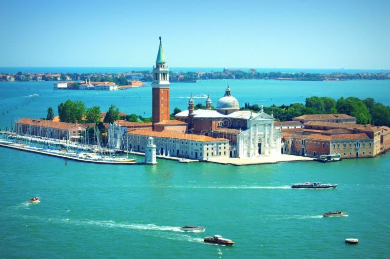 San Giorgio Maggiore wyspy widok z lotu ptaka Włochy zdjęcia royalty free