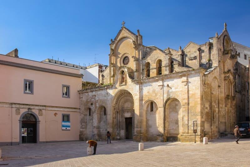 San Giovanni Battista church. Matera. Basilicata. Apulia or Puglia. Italy royalty free stock image