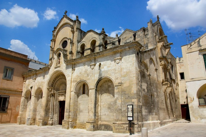 Download San Giovanni Battista Church In Matera, Italy Stock Image - Image of church, italy: 6987775