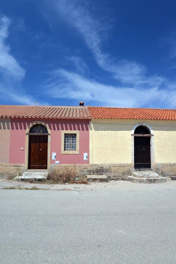 San Giovanni dans Sinis, île de la Sardaigne, Italie photographie stock libre de droits