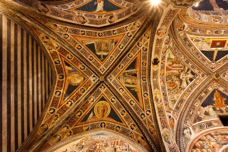 San Giovanni, Duomo, Siena, Toscana, Italia fotografia stock