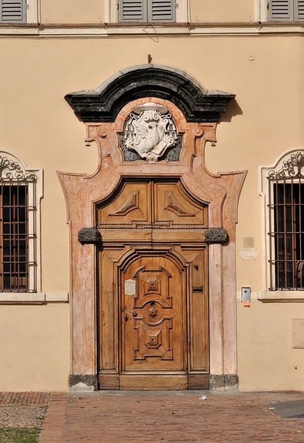 San giovanni monastery, parma. Monumental portal of monastery in parma city center, shot in sunny wheater royalty free stock photos
