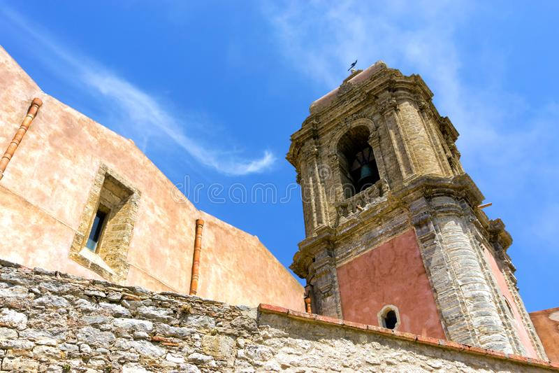 Church of San Guiliano in Erice, Italy. San Giuliano church in the historic town of Erice, Italy on the island of Sicily royalty free stock images