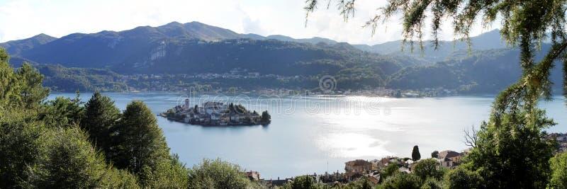 San giulio island stock photo