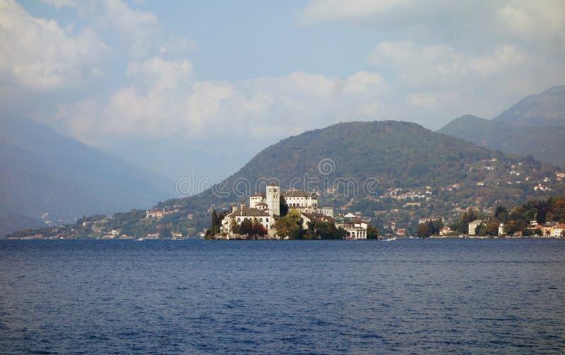 San Giulio Island, lac Orta, Italie photographie stock