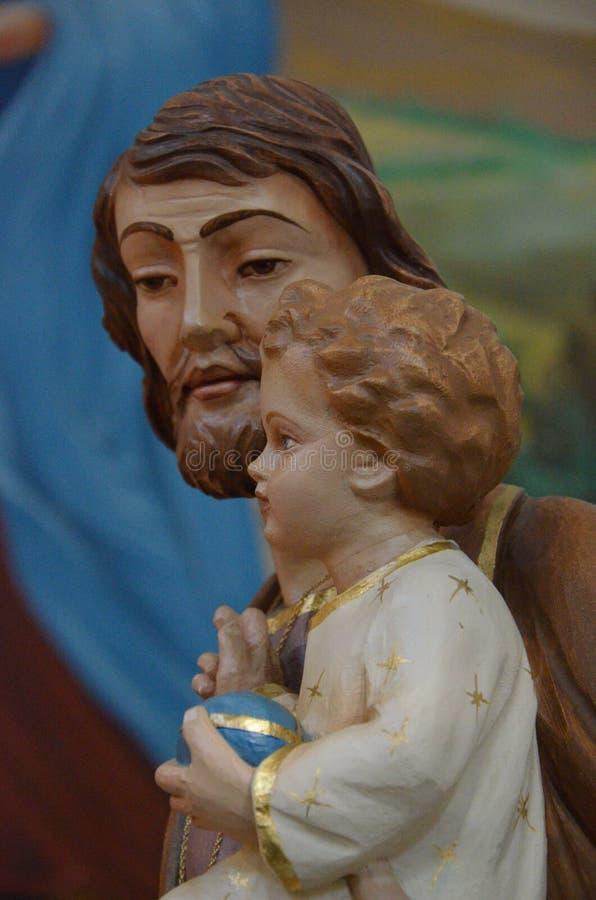 San Giuseppe. The statue of San Giuseppe royalty free stock photo