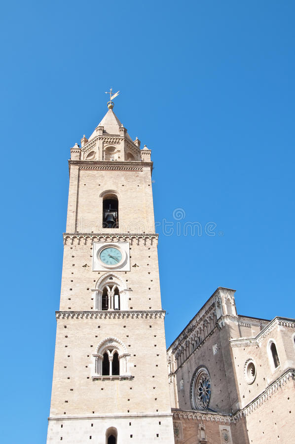 San Giustino's Cathedral in Chieti Abruzzo royalty free stock photos