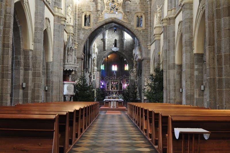 San gotico Procopius della basilica in Trebic, fotografie stock libere da diritti