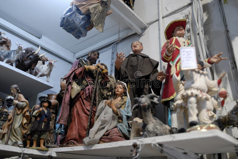 Download San Gregorio Armeno Craftsmen Editorial Stock Photo - Image: 83834293