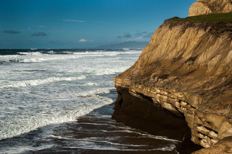 San Gregorio State Beach Landscape royaltyfri fotografi
