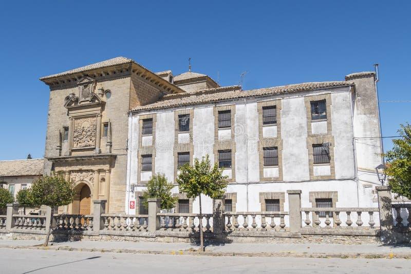 San Ignacio kościół, Baeza, Jaen, Hiszpania zdjęcia royalty free